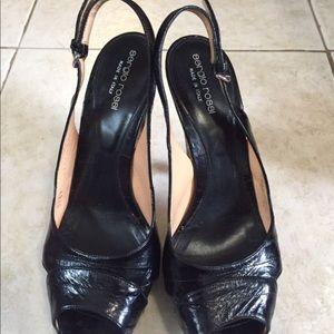 Black Sergio Rossi 5 inch platform/Heels